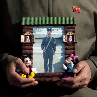 The north korean soldier and Mickey Mouse - North Korea