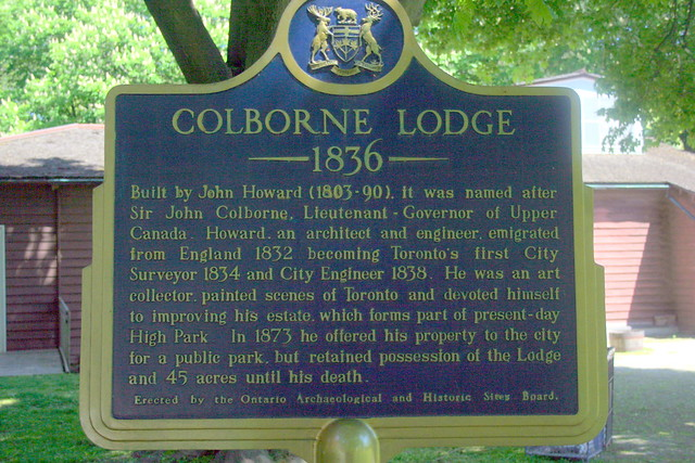 Photo of Colborne Lodge and John Howard blue plaque