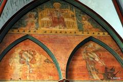 Peinture murale de la Chapelle St-Joseph de la Cathédrale de Coutances - Manche - Basse Normandie