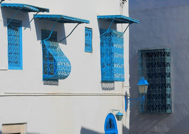 Tunisie sidi bou said fen tres sur rue flickr photo for Fenetre sur rue hugo