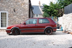 volkswagen golf mk2(0.0), automobile(1.0), automotive exterior(1.0), wheel(1.0), supermini(1.0), vehicle(1.0), volkswagen golf mk3(1.0), volkswagen golf mk4(1.0), city car(1.0), bumper(1.0), land vehicle(1.0), hatchback(1.0), volkswagen golf(1.0),