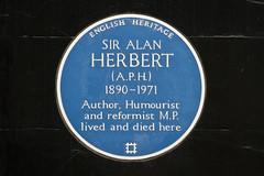 Photo of Alan Herbert blue plaque
