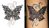 steampunk butterfly tattoo by Urban Threads