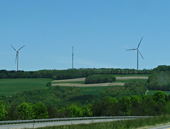 prairie, windmill, field, plain, wind, wind farm, rural area, wind turbine,