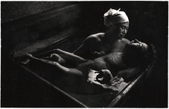 Tomoko in Her Bath, Mother and daughter with Minamata Disease, Japan, by W. Eugene Smith