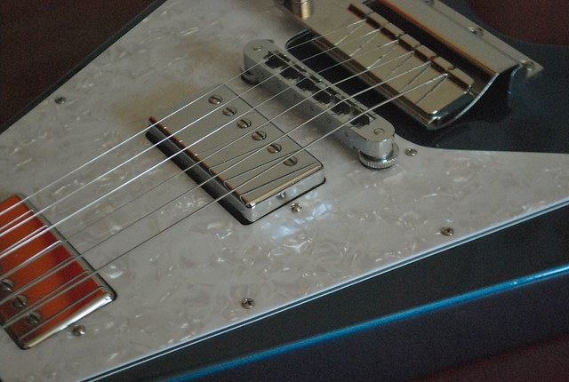 Photo:2007 Gibson Flying V - Vibrola, Burstbucker Pro Pickups, Lake Placid Blue By Freebird_71