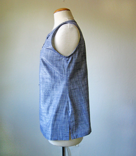 chambray top side view