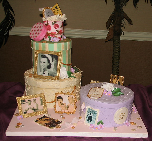 Hatbox Full of Memories Cake