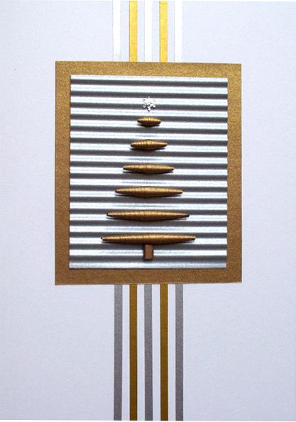 Paper Bead Christmas Tree Card