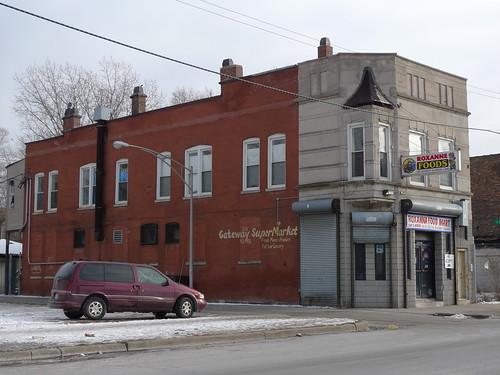 former home of Michael Kilmartin's saloon (Ben Yoder was murdered here Dec. 22, 1934)