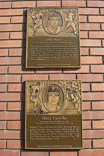 San Francisco: AT&T Park - San Francisco Giants Wall of Fame - Jim Barr and Gary Lavelle