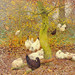 Claus, Emile (1849-1924) - 1900c. Poultry in a Wood (Private Collection)
