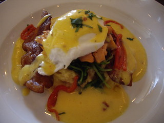smoked trout with chipolte hollandaise