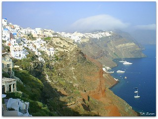 Santorini seen from Oía