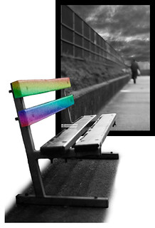 A Colourful Seat On A Grey Day