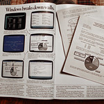 Microsoft Windows 1.0 Six-Page Advertising Insert In Byte Magazine, January 1986 (3 of 4)
