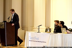 Mike Rosenberg moderating a panel on Tools & Competi…