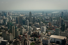 Photo from the observation platform of the Baiyoke II tower
