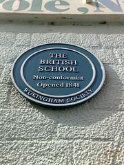 Photo of British School blue plaque