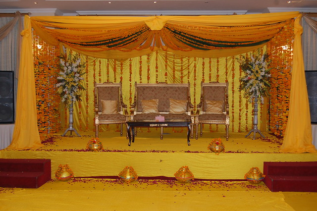 Wedding stage hina marrage