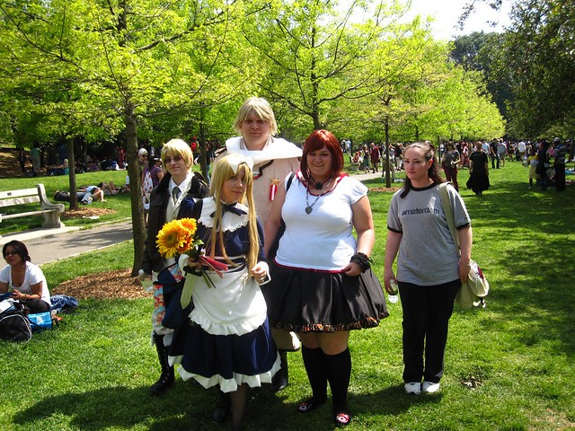 Visitors strolling on Cherry Esplanade during Sakura Matsuri 2010.