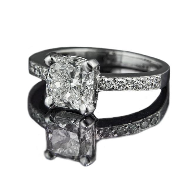Cushion Cut Diamond Madison Engagement Ring