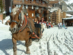<p>Looks both ways and also look down when crossing the street in Avoriaz</p>