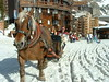 Looks both ways and also look down when crossing the street in Avoriaz