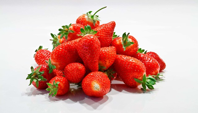 Strawberries Panorama