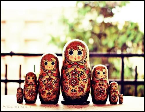 seven Russian ladies