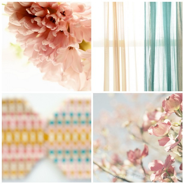 colour palette : dreamy summer mornings - curated by Emma Lamb