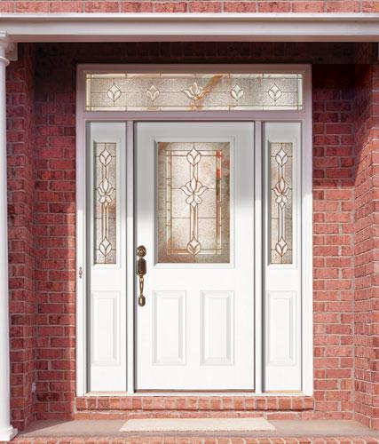 Feather River Door Fiberglass Entry Doors Smooth White Door Sidelites W A Rectangular