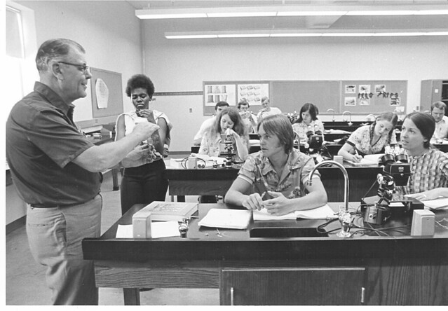 Paul Prior and Biology Lab_1970s