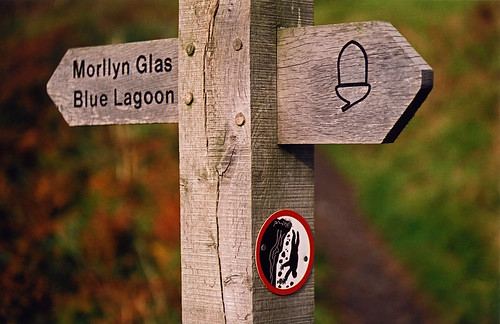 sign on the Pembrokeshire Coast path