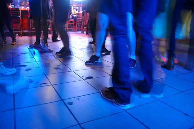 bowling shoes + dance floor