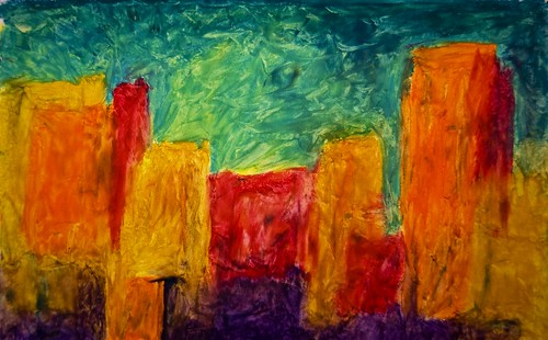 Abstract Art Oil Pastels - Notas 5