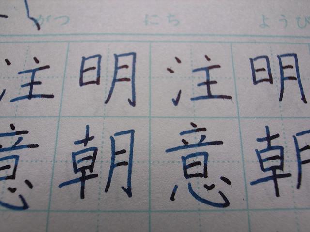 Kanji, Chinese character, Kaisho