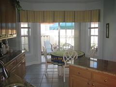 Window treatments, Tailored Bay Window Valance