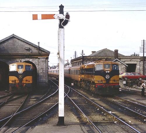 cie irishrailways diesellocomotive dieselloco locomotive vlok athlone generalmotors gm train trein railway railroad