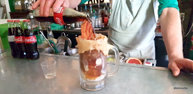 Coke and Bourbon Float