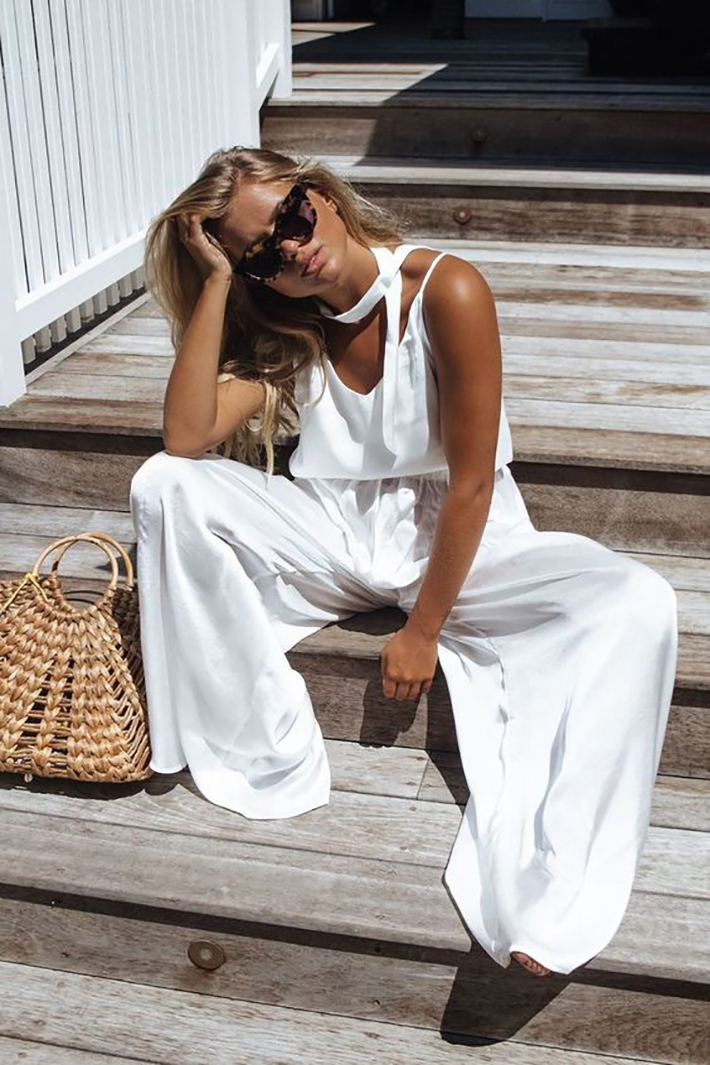 White outfits for summer 2017 street style outfits fashion trend accessories8