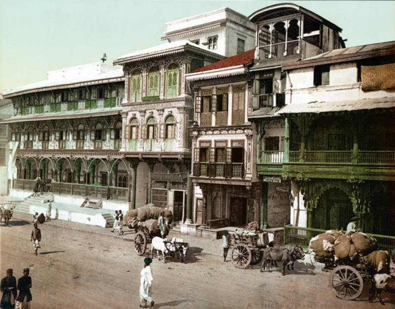 Pydownee Street, Bombay, India c1895