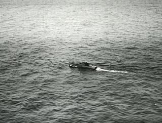 Spriimoottorivene Tahkunan ulkopuolella vuonna 1936