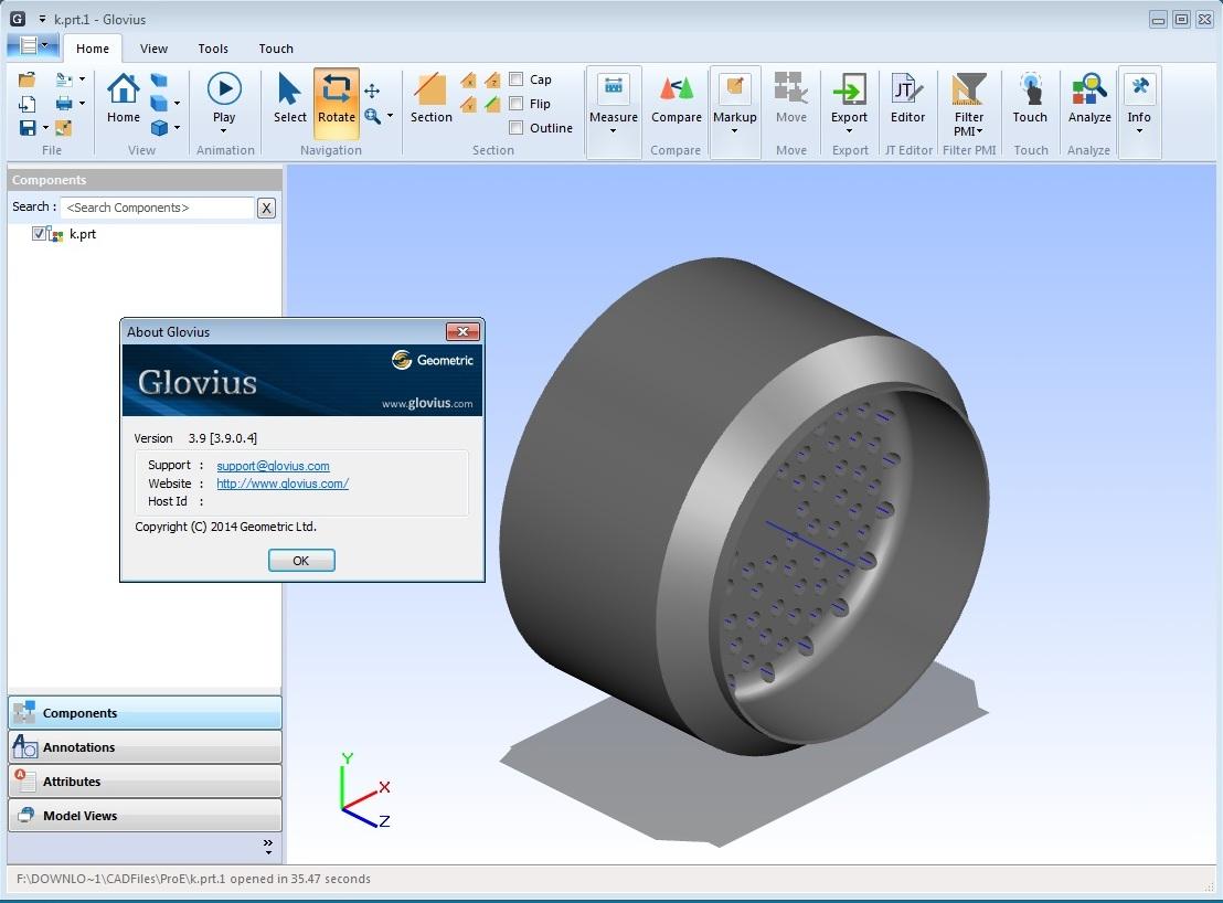 working with Geometric Glovius Professional v3.9.0.04 full