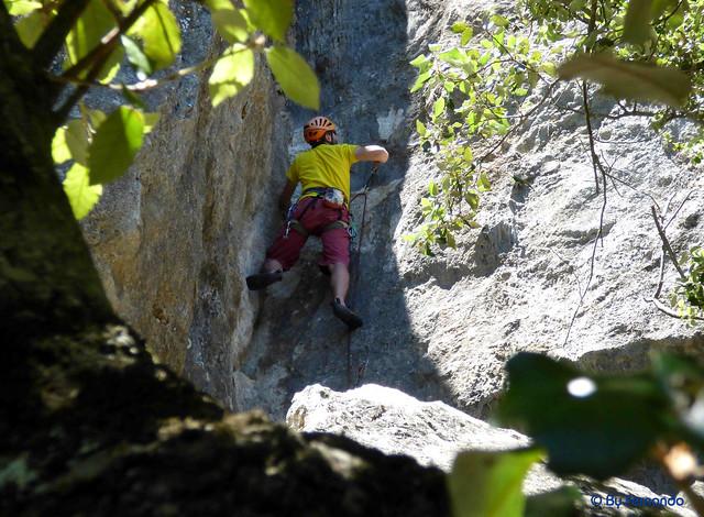 Pere Cuyàs (PGB) - El Diedre Gran, V+ -04- El Pla de Manlleu, Sector Vall de l'Infern, Subsector Can Llepaculs (02-07-2017)