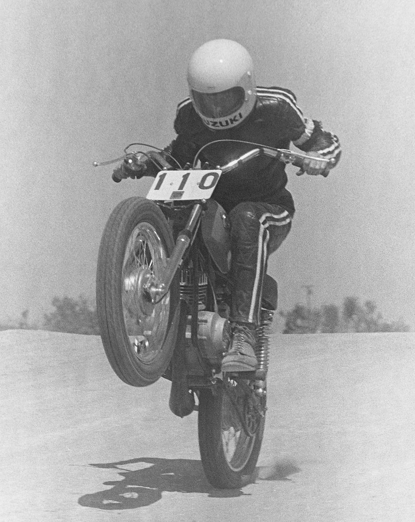 1970 Suzuki TS90 Hos Adelanto Raceway kommer fra Jump-3539