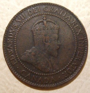 CANADA, EDWARD VII 1909 ---ONE CENT b