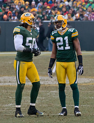 Nick Barnett (56) and Charles Woodson (21)