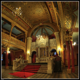The interior of Tempel Synagogue, Krakow, Poland