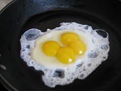 Quadruplets in a frying pan